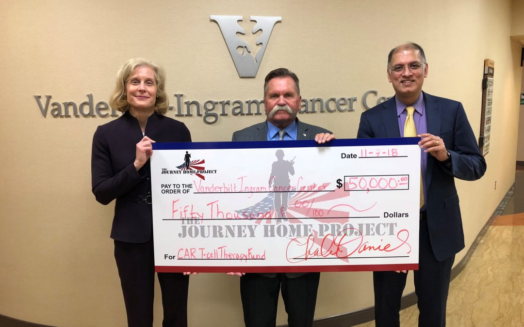 The Journey Home Project Donates 50k to Vanderbilt-Ingram Cancer Center to Aid Vets Battling Cancer