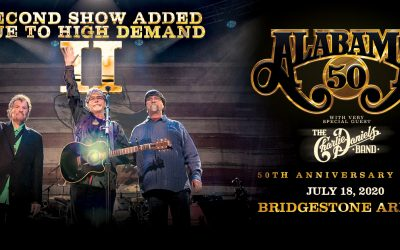 "ALABAMA Reschedules ""50th Anniversary Tour"" Nashville Concert; Adds Second Show"