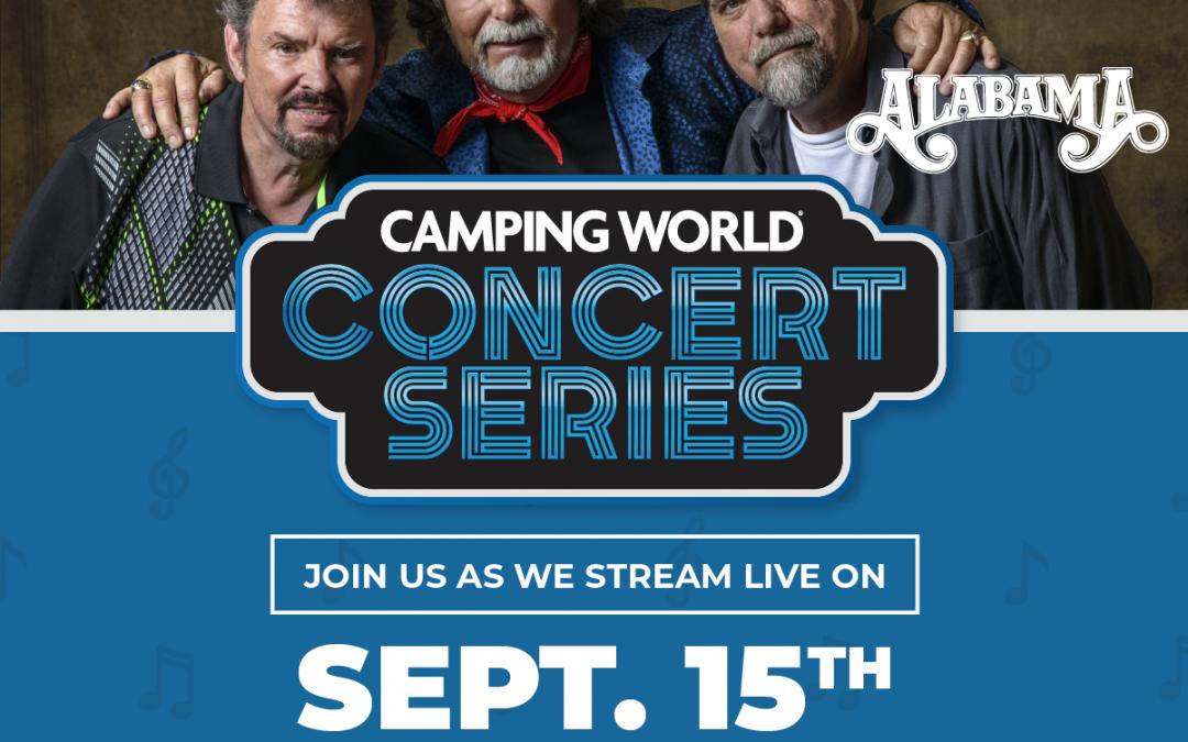 ALABAMA Set to Kick Off Free Camping World®  Concert Series