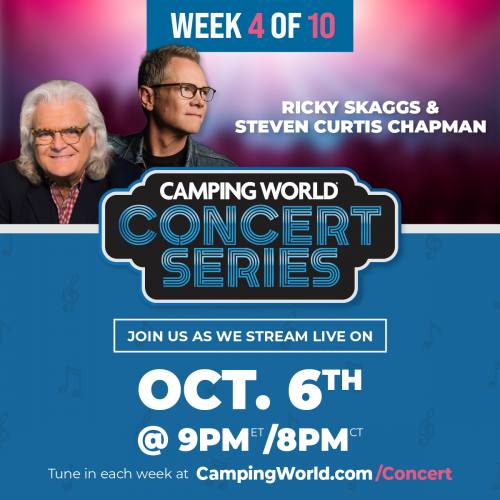 Tonight's Camping World® Concert to Feature Ricky Skaggs and Steven Curtis Chapman